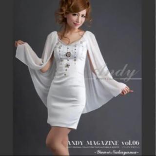 アンディ(Andy)のAndy ビジュー サテン S ミニ ドレス ワンピ(ミニドレス)