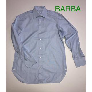 バルバ(BARBA)の●BARBA バルバ/バーニーズニューヨークイタリア製 Yシャツ 水色 L(シャツ)