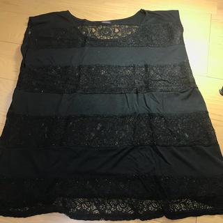 アルブム(ALBUM)のALBUM 黒レース シャツ(Tシャツ(半袖/袖なし))