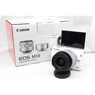 キヤノン(Canon)の♡WiFi&女性大人気♡Canon キャノン EOS M10レンズキットホワイト(ミラーレス一眼)