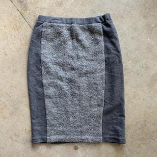 エーティー(A.T)の美品★Atsuro Tayama スウェットタイトスカート(ひざ丈スカート)