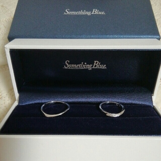 セントピュール マリッジリング ペア PT999 サムシングブルー 結婚式(リング(指輪))