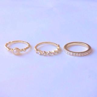 スワロフスキーエタニティリング3本セット(リング(指輪))