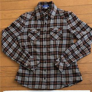 バーバリーブルーレーベル(BURBERRY BLUE LABEL)の美品✨バーバリーブルーレーベル!ネルシャツ(シャツ/ブラウス(長袖/七分))