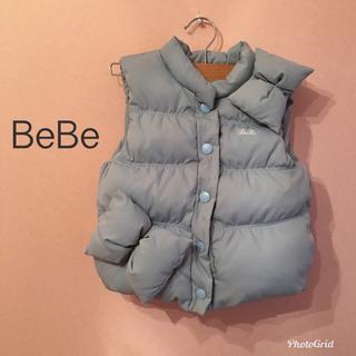 ベベ(BeBe)のBeBe べべ  ライトブルー ダウン ベスト アウター メゾピアノ(ジャケット/上着)