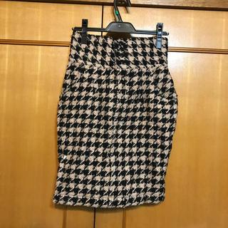 デターナル(DE TER NL)のDE TERNL 新品 千鳥柄スカート サロペ付き(ひざ丈スカート)