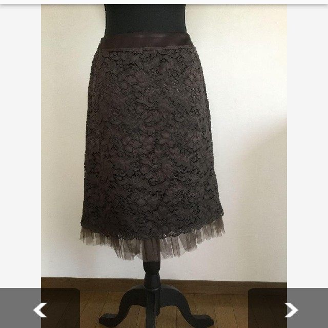 leilian(レリアン)のレリアン レーススカート レディースのスカート(ひざ丈スカート)の商品写真