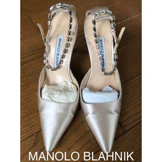 マノロブラニク(MANOLO BLAHNIK)のCO×CO様専用 MANOLO BLAHNIK シャンパンゴールドパンプス(ハイヒール/パンプス)