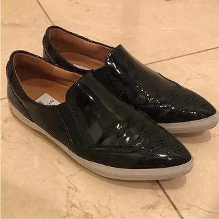 ランバンオンブルー(LANVIN en Bleu)のローファー ランバンオンブルー 22.5 エナメル スニーカー (ローファー/革靴)