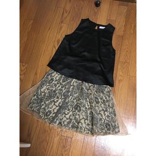 バーニーズニューヨーク(BARNEYS NEW YORK)のBARNEYS NEW YORK セットアップ スカート ワンピ 結婚式 ドレス(ミディアムドレス)