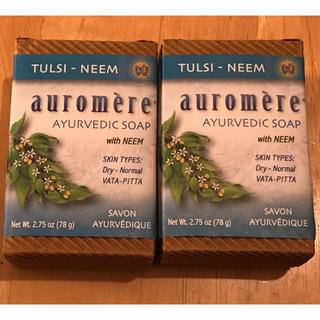 オーロメア(auromere)の【比類なきハーブ】 トゥルシー 石鹸 2個セット(ボディソープ / 石鹸)