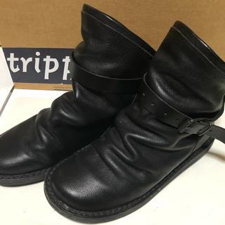 トリッペン(trippen)のtrippen トリッペン ショートブーツBOMB 黒 サイズ36(ブーツ)