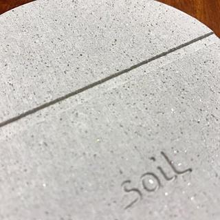 ソイル(SOIL)の未使用品!soilコースター丸・四角各2枚!計4枚セット(テーブル用品)
