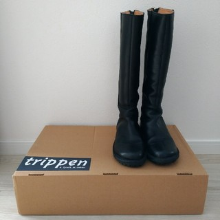 トリッペン(trippen)のtrippen トリッペン★hi-boot  ロングブーツ 黒 tower 35(ブーツ)