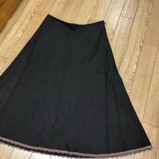 ジネス(Jines)のウールAラインスカート (ひざ丈スカート)
