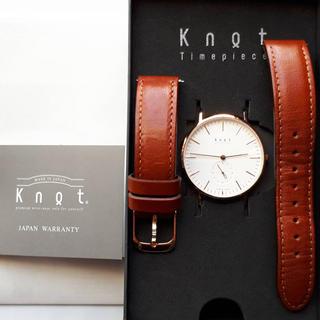 ノット(KNOT)のknot ノット クロノグラフ 時計 本革 レザー バンド セット(腕時計)