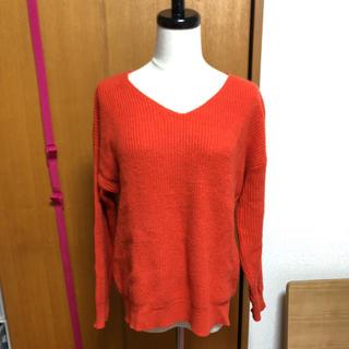 アパートバイローリーズ(apart by lowrys)のオレンジ色セーター(ニット/セーター)