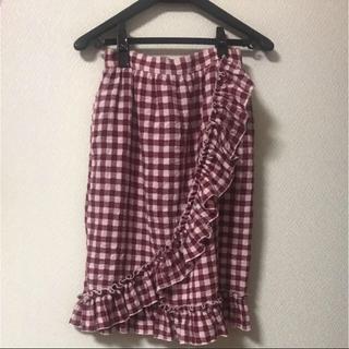 メリージェニー(merry jenny)のmerry jenny ❥ フリルラップスカート(ひざ丈スカート)