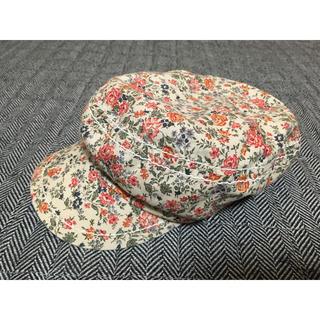 美品 カオリノモリ 小花柄ハット キャスケット 帽子