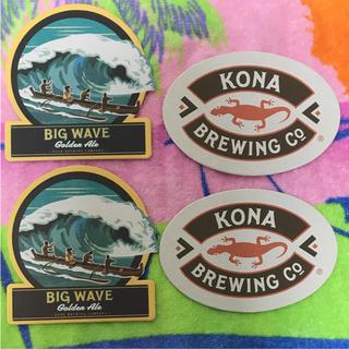 コースター4枚 ビッグウェーブ ビール コナ コーヒー ハワイ