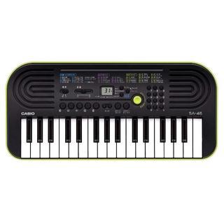 カシオ(CASIO)のCASIO 32ミニ鍵盤 電子キーボード SA-46 ブラック&グリーン(エレクトーン/電子オルガン)