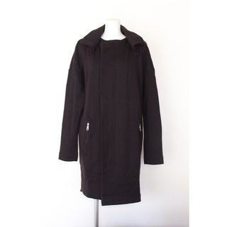 カミシマチナミ(KAMISHIMA CHINAMI)の美品 カミシマチナミイエロー 裏毛 ロングジャケット(ロングコート)