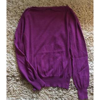 ルイヴィトン(LOUIS VUITTON)のユミフリルン様専用☆ルイ・ヴィトン 日本正規品 カシミヤ100% 紫 ピンク(ニット/セーター)