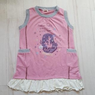 120サイズ■EKUBO■ピンクのスウェットワンピース(ワンピース)