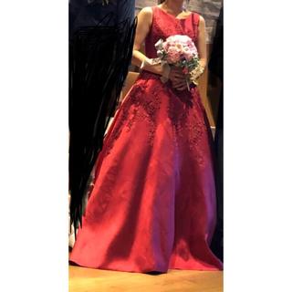 結婚式 カラードレス 赤(ウェディングドレス)