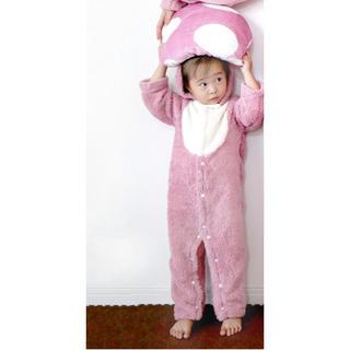 スリーコインズ(3COINS)のラスト1点‼︎恐竜 ロンパース Baby ピンク(ロンパース)