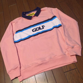 激レア golfwang ゴルフワン ピンク トレーナー シャツ 美品 パーカー(スウェット)