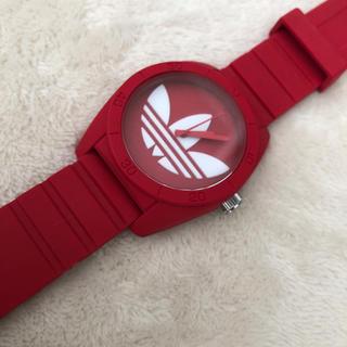 アディダス(adidas)のadidas 腕時計 赤(腕時計)
