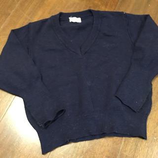 ギンザノサエグサ(SAYEGUSA)の銀座サエグサの紺色ニット3歳90-100相当?(Tシャツ/カットソー)