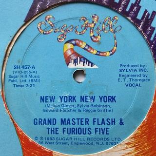 GRANDMASTER FLASH & THE FURIOUS FIVE(ターンテーブル)