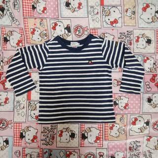 ダブルビー(DOUBLE.B)のMIKIHOUSE DOUBLE.B 厚手 長袖 100  しましま  (Tシャツ/カットソー)