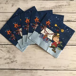 スヌーピー(SNOOPY)のチャーリーのクリスマス ペーパーナプキン5枚組(その他)