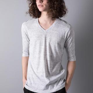 ガルヴァナイズ(Galvanize)の新品 未使用 galvanize ガルバナイズ 杢Vネック5分Tシャツ ホワイト(Tシャツ/カットソー(半袖/袖なし))