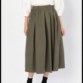 ダントン(DANTON)の【MORRIS & SONS】タックギャザースカート(ひざ丈スカート)
