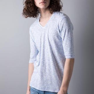 ガルヴァナイズ(Galvanize)の新品 未使用 galvanize ガルヴァナイズ 杢Vネック5分Tシャツ ブルー(Tシャツ/カットソー(半袖/袖なし))