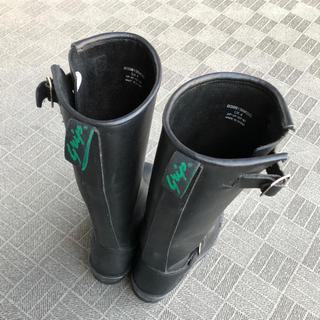 ゲッタグリップ(GETTA GRIP)のGETTA GLIP 本革ロングブーツ ブラック 膝下  24センチ(ブーツ)
