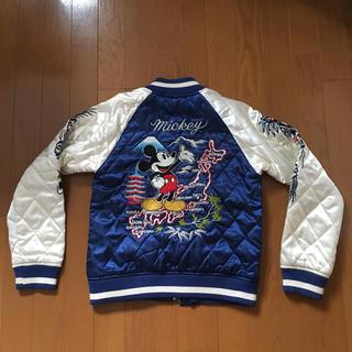 ディズニー(Disney)のディズニーミッキーマウス刺繍スカジャン正規青白155-165(スカジャン)