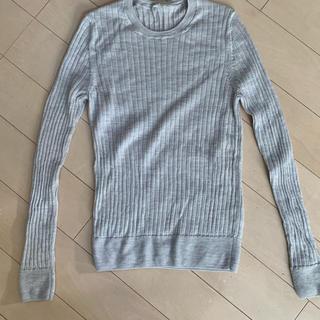 ムジルシリョウヒン(MUJI (無印良品))の洗えるウールシルクワイドリブクルーネックセーター(ニット/セーター)