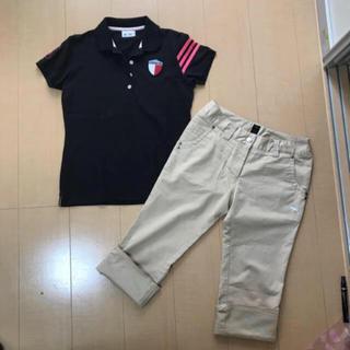adidas - アディダスゴルフ 半袖 ポロシャツ 、プーマゴルフ 七部丈 ズボン Mサイズ