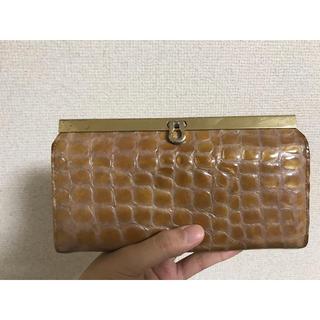 アンメートルキャレ(1metre carre)のエナメル長財布♡ピンクベージュ(財布)