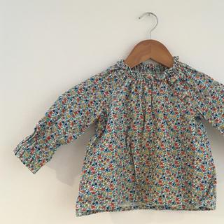シップス(SHIPS)のSHIPS キッズ 長袖カットソー  花柄 90(Tシャツ/カットソー)
