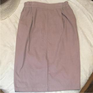 ジネス(Jines)のジネス タイトスカート くすみピンク(ひざ丈スカート)
