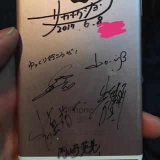 サカナクション メンバー全員サイン入り iPhone6s(サイン)