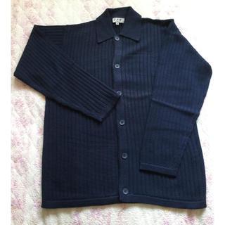 ヴァンヂャケット(VAN Jacket)の【新品未着用】VANヂャケット 衿つきコットンカーディガン サイズM(カーディガン)