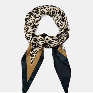 ザラ(ZARA)のZARA  レオパード柄 スカーフ(バンダナ/スカーフ)