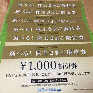 セイブヒャッカテン(西武百貨店)の【6枚】西武@株主ご優待券(その他)
